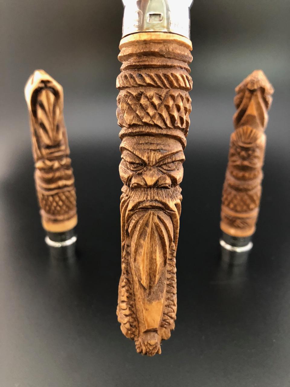 Opinels sculptés